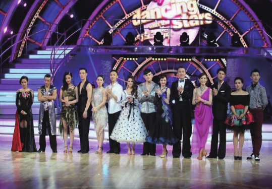 The Stage of Dancing with the Stars on Shanghai Oriental Television